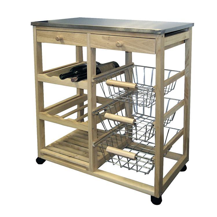 ORE International Wood Kitchen Cart