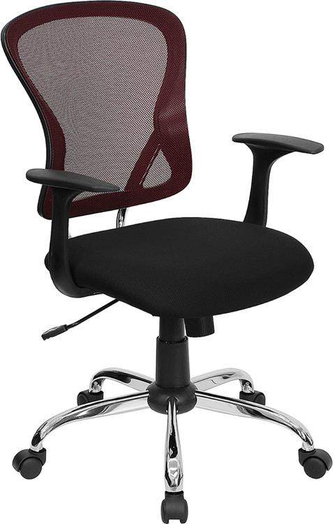 Mid-Back Mesh Swivel Task Chair With Base Arms