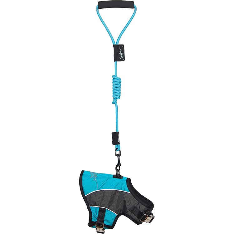 Touchdog Reflective-Max 2-in-1 Premium Performance Adjustable Dog Harness and Leash [Item # HA21LBLLG]