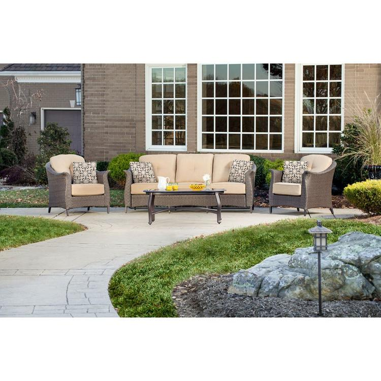 Hanover Gramercy 4-Piece Seating Set in Country Cork