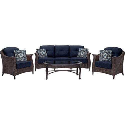 Gramercy 4-Piece Seating Set in Navy Blue