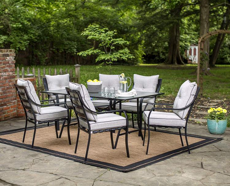 Hanover Lavallette 7-Piece Outdoor Dining Set in Gray [Item # HANFRBLAVALLETTE7PC]