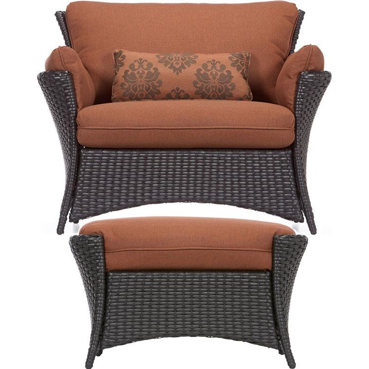 Hanover Strathmere Allure 2 Pc. Set - Oversized Armchair and Ottoman [Item # HANFRBSTRATHALLURE2PC]
