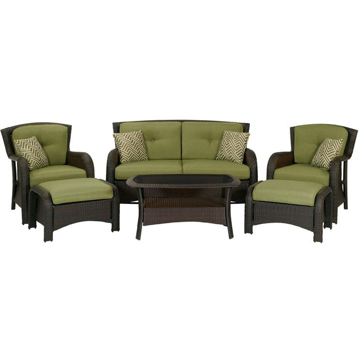 Hanover Strathmere 6-Piece Lounge Set in Country Cork [Item # HANFRBSTRATHMERE6PC]