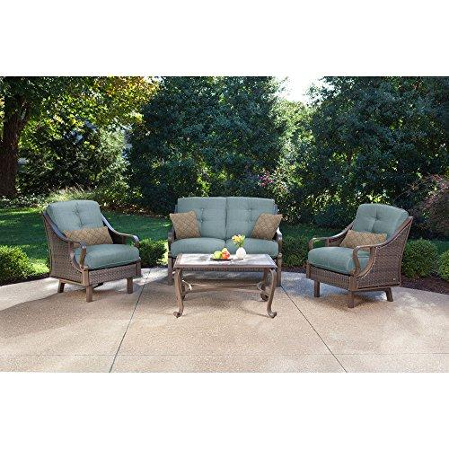 Ventura 4-Piece Patio Set in Ocean Blue