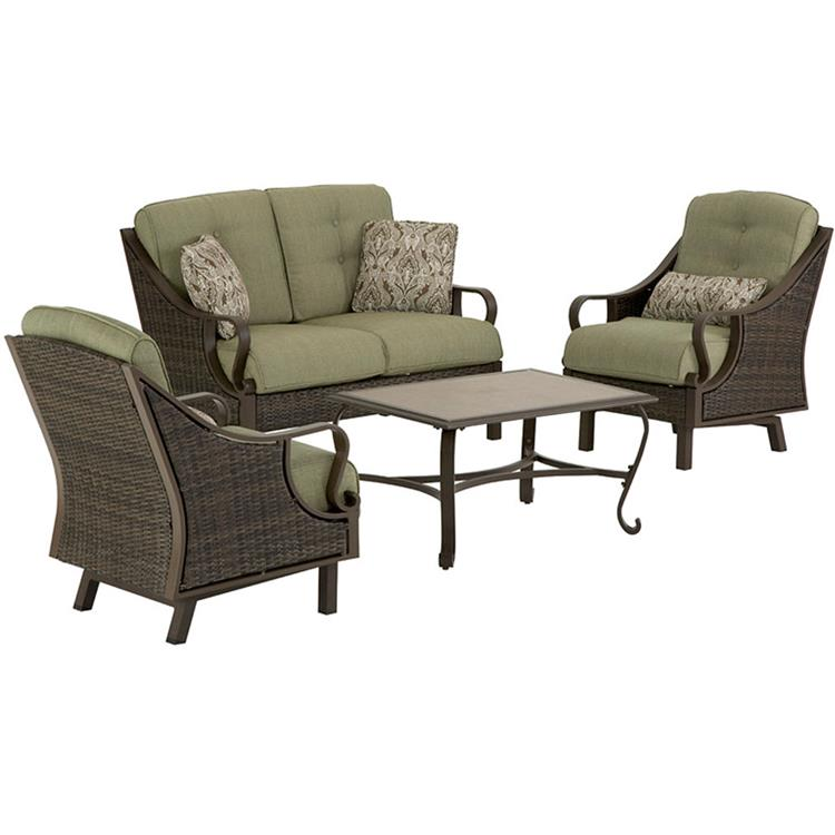 Hanover Ventura 4-Piece Patio Set in Vintage Meadow