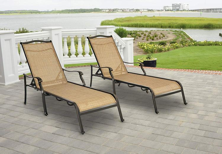 Hanover Monaco Chaise Lounge Chairs - Set of Two [Item # HANFURMONCHS2PC]