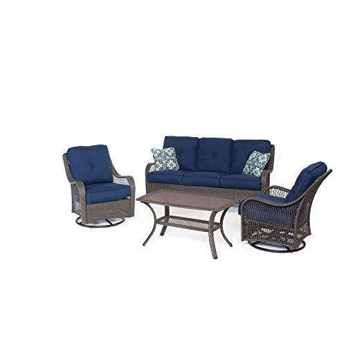 Orleans 4 Piece All-Weather Wicker Seating Set