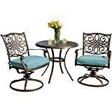 Seasons 3-Piece Bistro Set with Two Swivel Rockers and a 32 in. Round Table