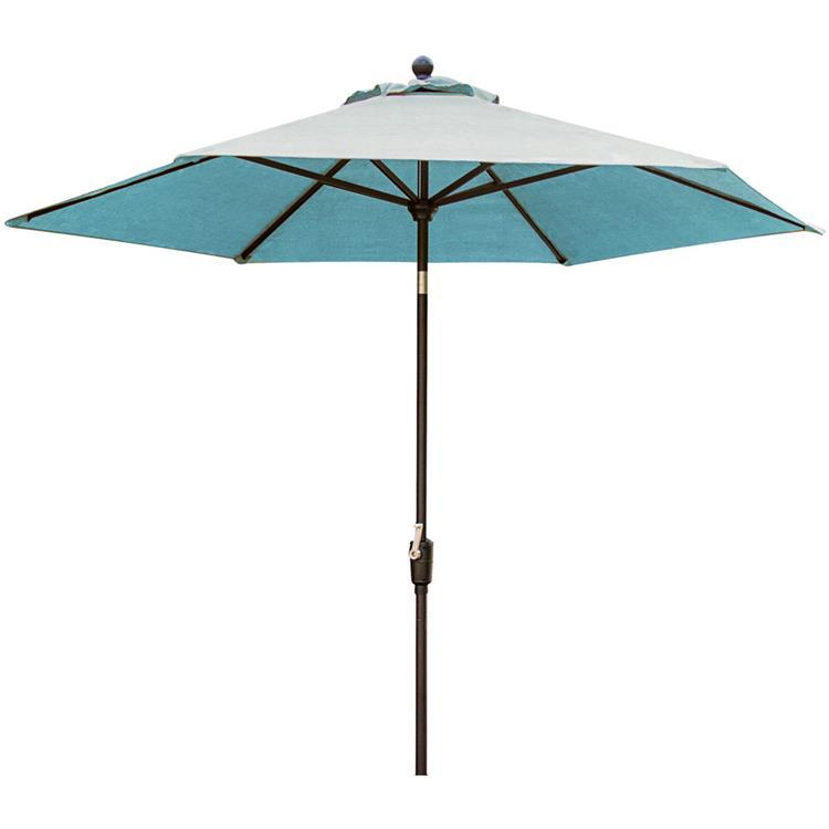 Hanover Traditions 11 Ft. Table Umbrella in Blue [Item # HANFURTRADUMB-11-B]