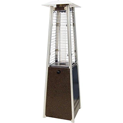 Mini Pyramid Tabletop Propane Patio Heater in Hammered Bronze