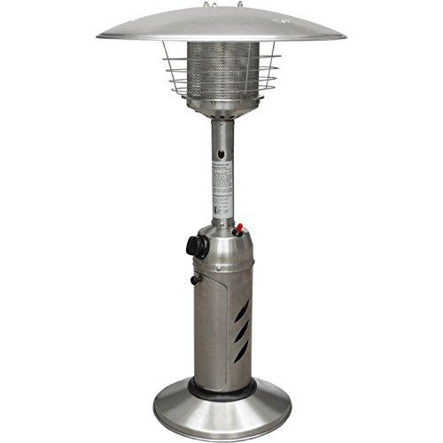 Mini Umbrella Tabletop Propane Patio Heater in Stainless Steel