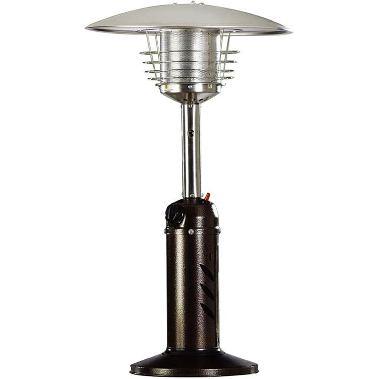 Hanover Mini Umbrella Tabletop Propane Patio Heater in Hammered Bronze [Item # HANHTRHAN0204HB]