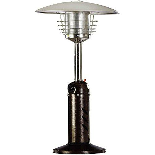 Mini Umbrella Tabletop Propane Patio Heater in Hammered Bronze