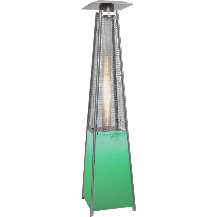 Hanover 7-Ft. 42,000 BTU Square Propane Patio Heater with Stainless Steel Frame and Multi-Color LED Lighted Base - [HANHTRHAN110SS]