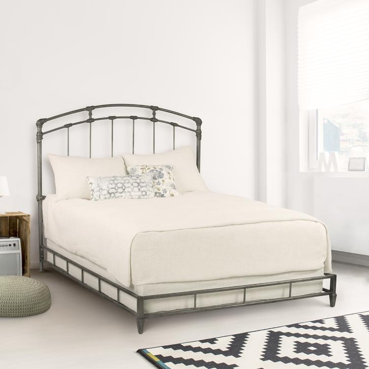 Taylor GrayCassidy Metal Platform Bed in Silver Bisque Finish