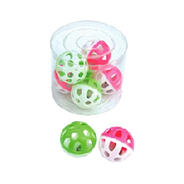 Tube of 36 Small Round Rattle Ball Bird Toy