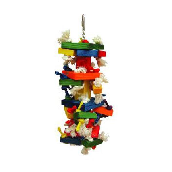 The Medium Cluster Blocks Bird Toy