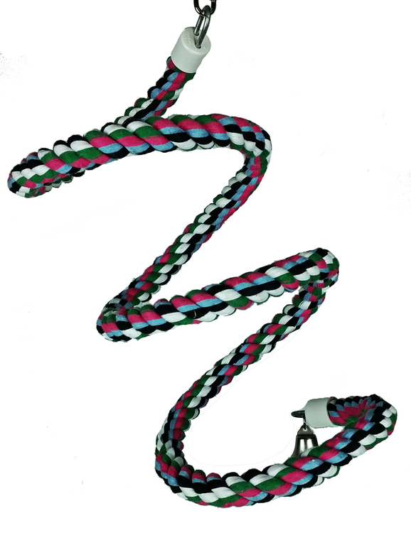 Medium Rainbow Cotton Rope Boing with Bell