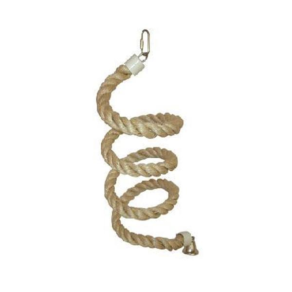 Large Sisal Rope Boing Bird Toy with Bell
