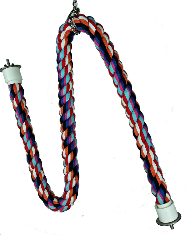 Large Rope Cable Perch with Wire