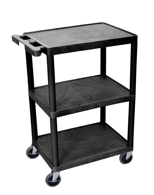 Luxor Utility Cart - 3 Shelves Structural Foam Plastic