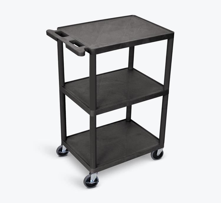 Luxor Utility Cart - 3 Shelves Structural Foam Plastic