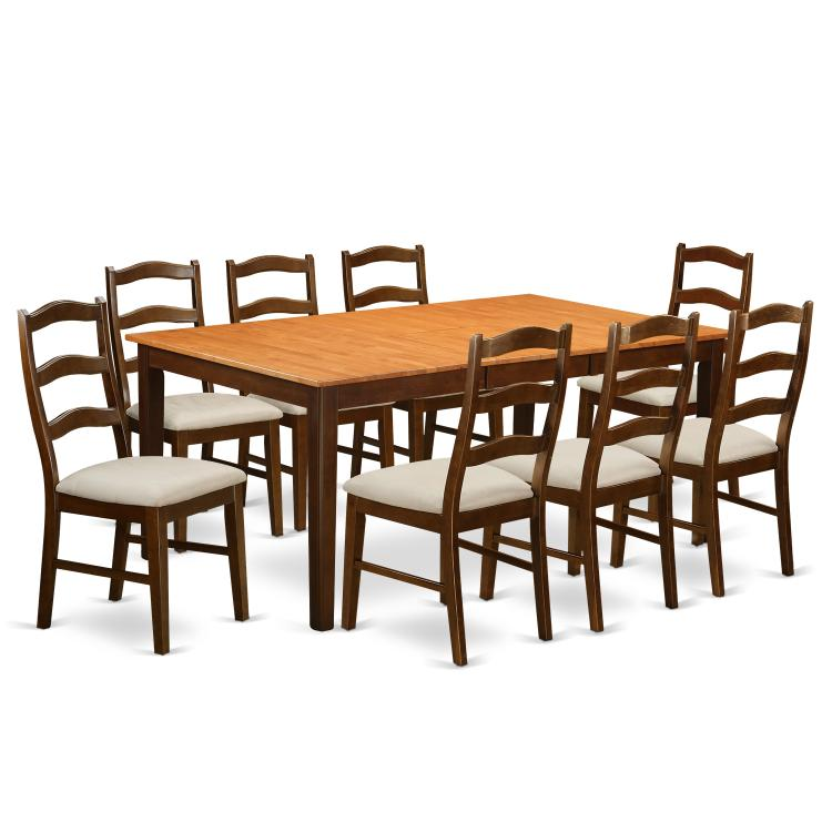 Dining Room Set-Table With Leaf And Dining Chairs