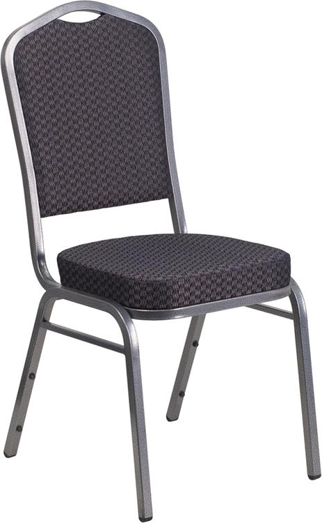 Hercules Series Crown Back Stacking Banquet Chair In Fabric