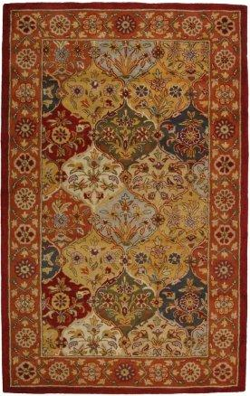 Traditional Rug - Heritage Wool Pile -Multi/Red
