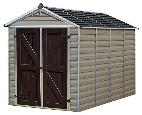 Palram SkyLight 6' x 10' Storage Shed - Tan