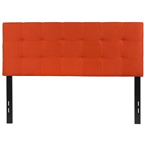 Flash Furniture Bedford Tufted Upholstered Full Size Headboard in Orange Fabric