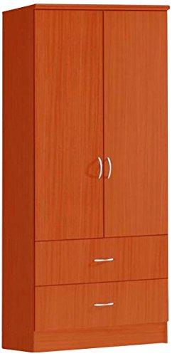 Hodedah 2 Doors Wardrobe W/2 Drawers - Cherry