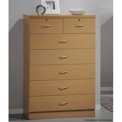 7 Drawer Chest - Black