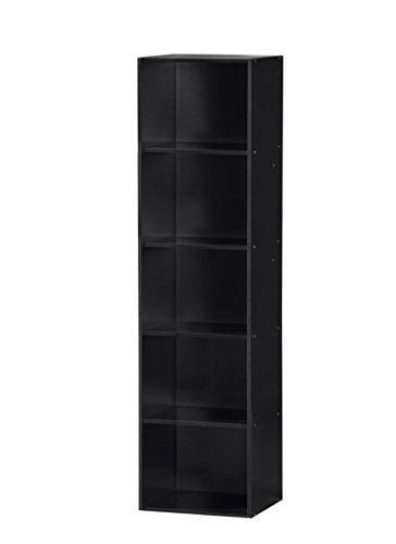 5 Shelf Bookcase - Black