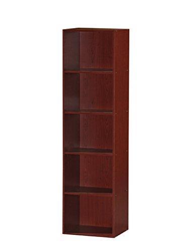 Hodedah 5 Shelf Bookcase - Mahogany