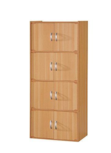 Hodedah 8 Door Cabinet - Beech