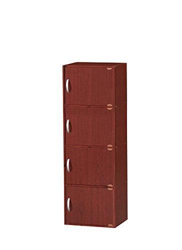 Hodedah 4 Door Cabinet - Mahogany