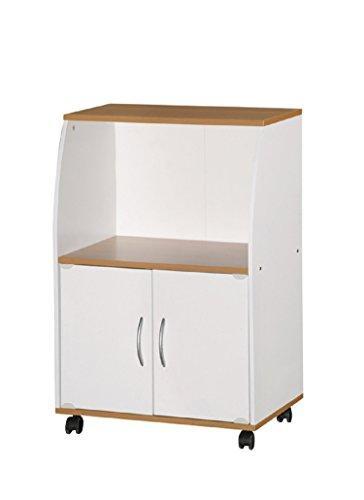 Microwave Cart - White