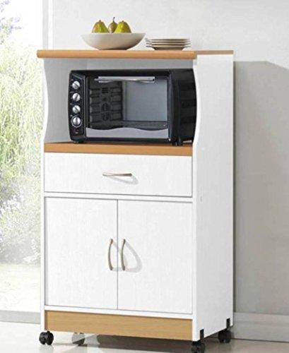 Hodedah Microwave Cart - White [Item # HIK77WHITE]