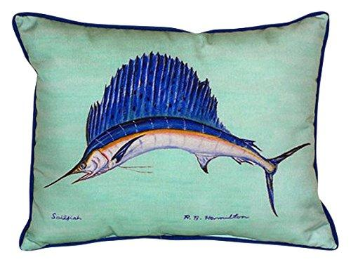 Sailfish - Teal Large Indoor/Outdoor Pillow 16x20