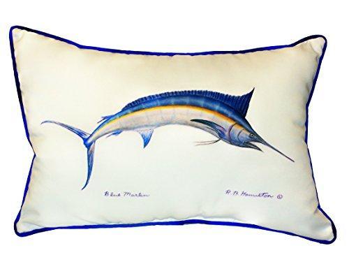 Blue Marlin Large Indoor/Outdoor Pillow 16x20