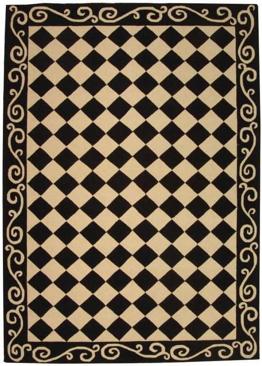 Transitional Rug - Chelsea -Black/Ivory