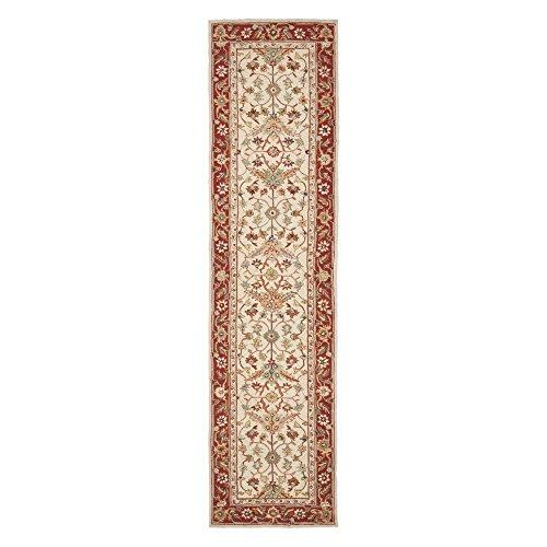 Transitional Rug - Chelsea Wool Pile -Ivory/Red