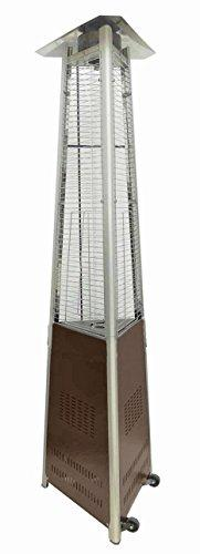 AZ Patio Heaters Commercial Glass Tube Patio Heater in Hammered Bronze