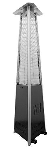 AZ Patio Heaters Commercial Glass Tube Patio Heater in Black