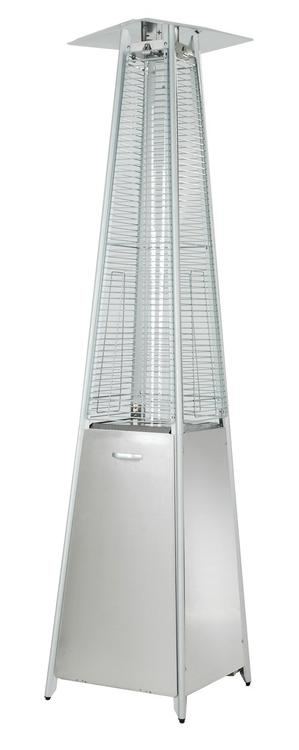 AZ Patio Heaters Glass Tube Patio Heater in Stainless Steel