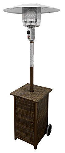 AZ Patio Heaters Outdoor Square Wicker Patio Heater