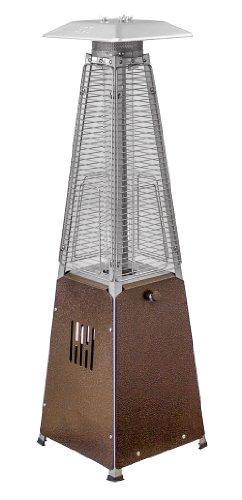 AZ Patio Heaters Glass Tube Table Top Patio Heater in Hammered Bronze