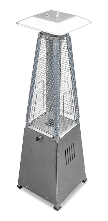 AZ Patio Heaters Glass Tube Table Top Patio Heater in Stainless Steel